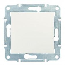 Одноклавишный кнопочный выключатель, Слоновая кость, Sedna SDN0700123
