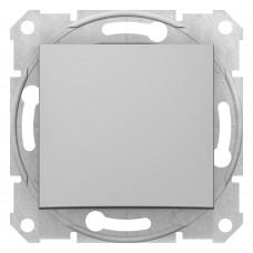 Одноклавишный кнопочный выключатель, Алюминий, Sedna SDN0700160