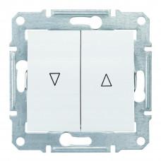 Выключатель для жалюзи с электрической блокировкой 10А-250В, Белый, Sedna SDN1300121