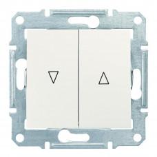Выключатель для жалюзи с электрической блокировкой 10А-250В, Слоновая кость, Sedna SDN1300123