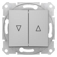 Выключатель для жалюзи с электрической блокировкой 10А-250В, Алюминий, Sedna SDN1300160