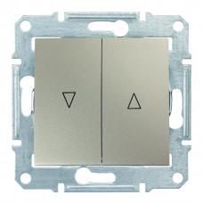 Выключатель для жалюзи с электрической блокировкой 10А-250В Титан, Sedna SDN1300168