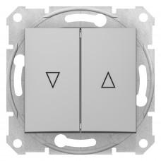 Выключатель для жалюзи с механической блокировкой 10А-250В, Алюминий, Sedna SDN1300360