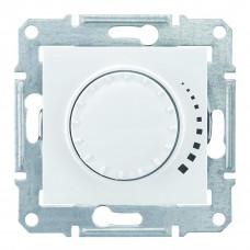 Світлорегулятор поворотно-натискний індуктивний, 230 В, 60-500 Вт/ВА, прохідний, Білий, Sedna SDN2200521