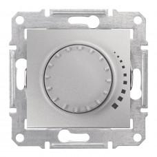 Светорегулятор поворотно-нажимной индуктивный, 230 В, 60-500 Вт/ВА, проходной, Алюминий, Sedna SDN2200560