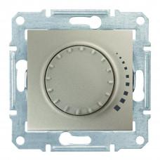 Светорегулятор поворотно-нажимной индуктивный, 230 В, 60-500 Вт/ВА, проходной Титан, Sedna SDN2200568