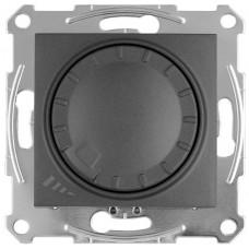 Світлорегулятор LED поворотно-натискний універсальний, 230 В, 4-400 Вт/ВА, Графіт, Sedna SDN2201270