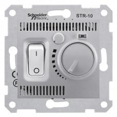 Термостат для теплої підлоги 10 A - 230 В, з температурним датчиком 4м, Алюміній, Sedna SDN6000360