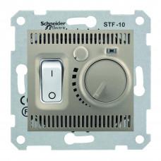 Термостат для теплої підлоги 10 A - 230 В, з температурним датчиком 4м, Титан, Sedna SDN6000368