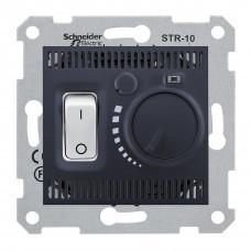 Термостат для теплої підлоги 10 A - 230 В, з температурним датчиком 4м, Графіт, Sedna SDN6000370