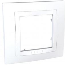 Рамка 1-постовая, Белый, Unica Basic MGU2.002.18
