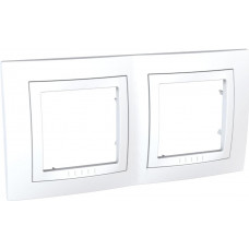 Рамка 2-постовая, Белый, Unica Basic MGU2.004.18