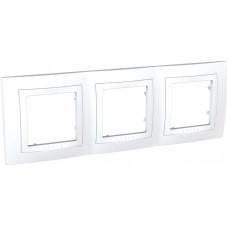 Рамка 3-постовая, Белый, Unica Basic MGU2.006.18