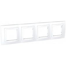 Рамка 4-постовая, Белый, Unica Basic MGU2.008.18
