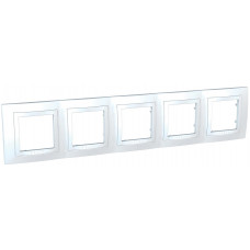 Рамка 5-постовая, Белый, Unica Basic MGU2.010.18