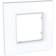Рамка 1-постова, Білий, Unica Quadro MGU2.702.18