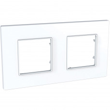 Рамка 2-постова, Білий, Unica Quadro MGU2.704.18