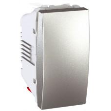 Одноклавишный выключатель 10А, 1 модуль, Алюминий, Unica MGU3.101.30