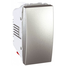 Одноклавишный выключатель 16А, 1 модуль, Алюминий, Unica MGU3.161.30