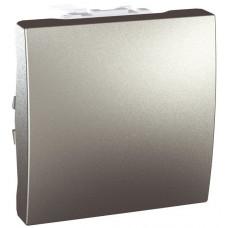 Одноклавишный выключатель 10А, 2 модуля, Алюминий, Unica MGU3.201.30