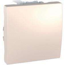 Одноклавишный выключатель 16А, 2 модуля, Слоновая кость, Unica MGU3.261.25