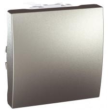 Одноклавишный выключатель 16А, 2 модуля, Алюминий, Unica MGU3.261.30