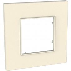 Рамка 1-постова, Сіро-перлиновий, Unica Quadro MGU4.702.35