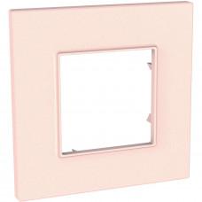 Рамка 1-постова, Розово-перлиновий, Unica Quadro MGU4.702.37