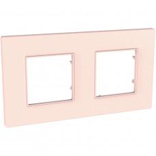 Рамка 2-постова, Розово-перлиновий, Unica Quadro MGU4.704.37