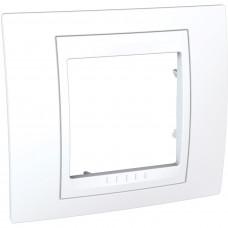 Рамка 1-постовая, Белый, Unica Plus MGU6.002.18