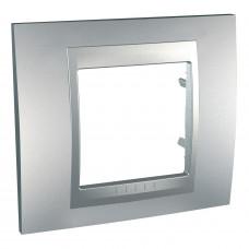 Рамка 1-постовая, Алюминий / Алюминий, Unica Top MGU6.002.30