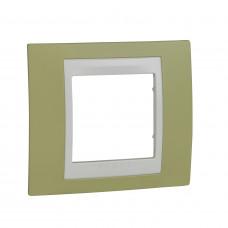 Рамка 1-постовая, Зеленое яблоко, Unica Plus MGU6.002.563