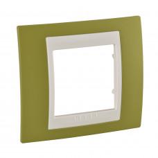 Рамка 1-постова, Фісташковий, Unica Plus MGU6.002.566