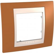 Рамка 1-постовая, Оранжевый, Unica Plus MGU6.002.569