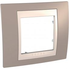 Рамка 1-постовая, Коричневый, Unica Plus MGU6.002.574