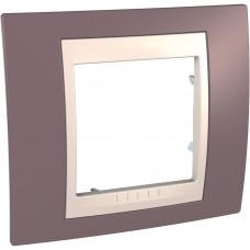 Рамка 1-постовая, Лиловый, Unica Plus MGU6.002.576