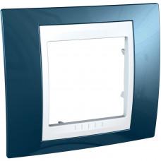 Рамка 1-постовая, Голубой лед, Unica Plus MGU6.002.854
