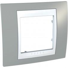 Рамка 1-постовая, Туманно-серый, Unica Plus MGU6.002.865
