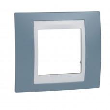 Рамка 1-постовая, Синий, Unica Plus MGU6.002.873