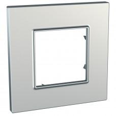 Рамка 1-постова, Срібний, Unica Quadro MGU6.702.55