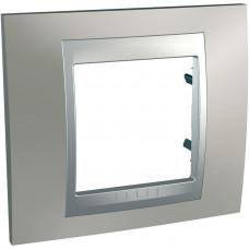 Рамка 1-постовая, Матовый никель / Алюминий, Unica Top MGU66.002.039