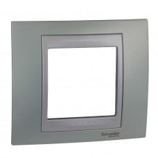 Рамка 1-постовая, Изумрудный / Алюминий, Unica Top MGU66.002.094