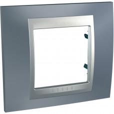 Рамка 1-постовая, Металлик / Алюминий, Unica Top MGU66.002.097