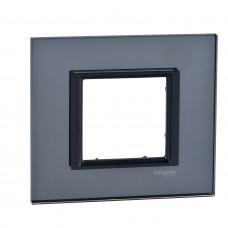 Рамка 1-постовая, Черное зеркало, Unica Class MGU68.002.7C1