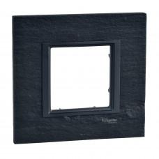 Рамка 1-постовая, Черный камень, Unica Class MGU68.002.7Z1