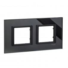 Рамка 2-постовая, Черное зеркало, Unica Class MGU68.004.7C1