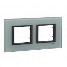 Рамка 2-постовая, Матовое стекло, Unica Class MGU68.004.7C3