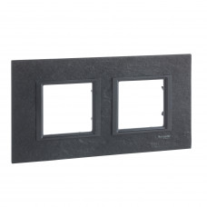Рамка 2-постовая, Черный камень, Unica Class MGU68.004.7Z1