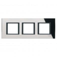 Рамка 3-постовая, Черное зеркало, Unica Class MGU68.006.7C1