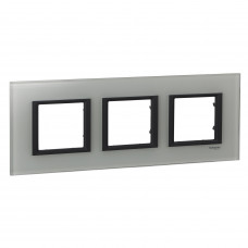 Рамка 3-постовая, Белое стекло, Unica Class MGU68.006.7C2